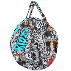 Panic! At The Disco College Giant Round Zipper Tote by Samandel