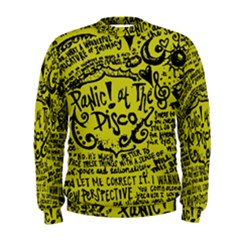 Panic! At The Disco Lyric Quotes Men s Sweatshirt by Samandel