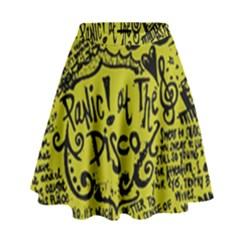 Panic! At The Disco Lyric Quotes High Waist Skirt by Samandel