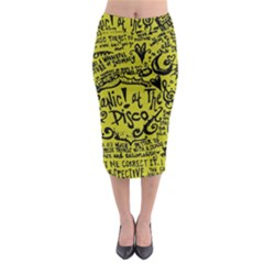 Panic! At The Disco Lyric Quotes Midi Pencil Skirt