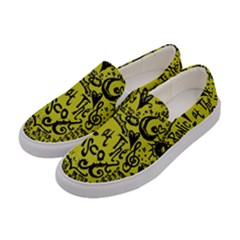 Panic! At The Disco Lyric Quotes Women s Canvas Slip Ons by Samandel