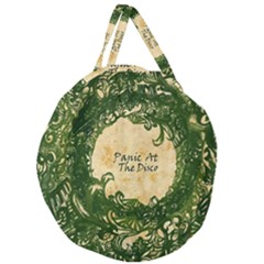 Panic At The Disco Giant Round Zipper Tote by Samandel