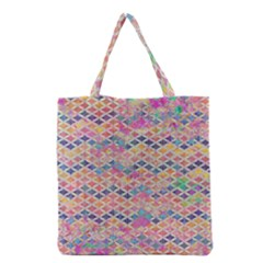 Zigzag Flower Of Life Pattern2 Grocery Tote Bag by Cveti