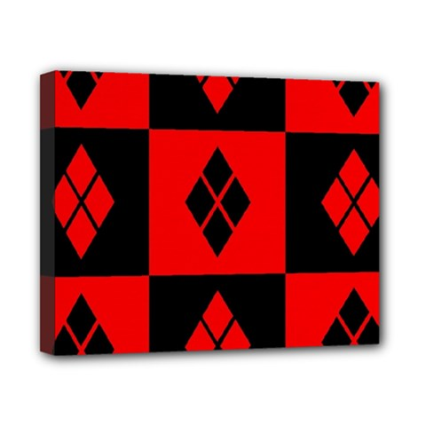 Red And Black Pattern Canvas 10  X 8