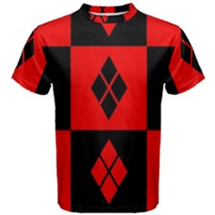 Red And Black Pattern Men s Cotton Tee