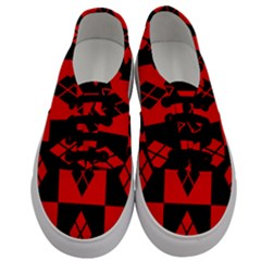 Red And Black Pattern Men s Classic Low Top Sneakers