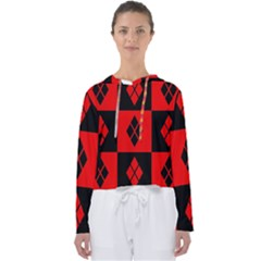 Harley Quinn Pattern Women s Slouchy Sweat