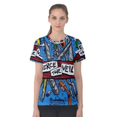 Album Cover Pierce The Veil Misadventures Women s Cotton Tee by Samandel