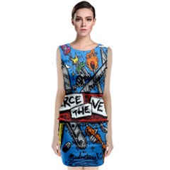 Album Cover Pierce The Veil Misadventures Classic Sleeveless Midi Dress by Samandel