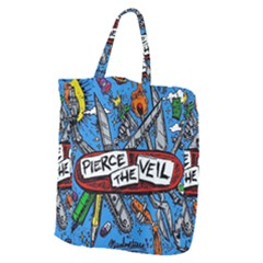 Album Cover Pierce The Veil Misadventures Giant Grocery Zipper Tote by Samandel