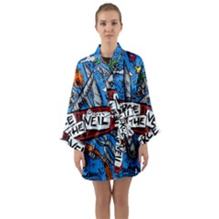 Album Cover Pierce The Veil Misadventures Long Sleeve Kimono Robe by Samandel