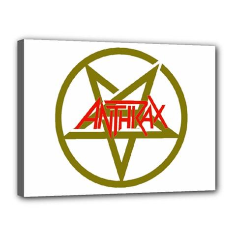 Anthrax Band Logo Canvas 16  X 12