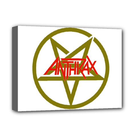 Anthrax Band Logo Deluxe Canvas 16  X 12   by Samandel