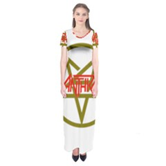 Anthrax Band Logo Short Sleeve Maxi Dress