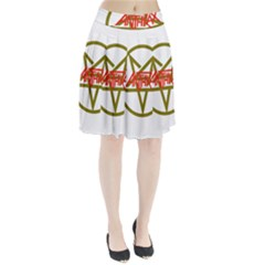 Anthrax Band Logo Pleated Skirt