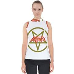 Anthrax Band Logo Shell Top