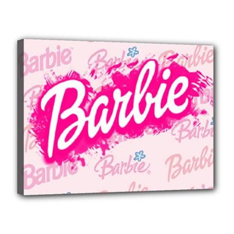 Barbie Pattern Canvas 16  X 12
