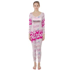 Barbie Pattern Long Sleeve Catsuit