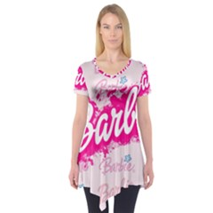 Barbie Pattern Short Sleeve Tunic