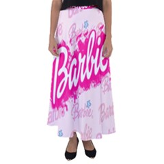 Barbie Pattern Flared Maxi Skirt