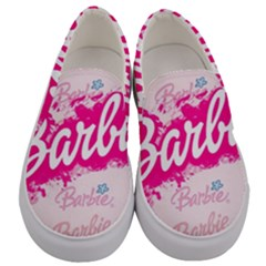 Barbie Pattern Men s Canvas Slip Ons
