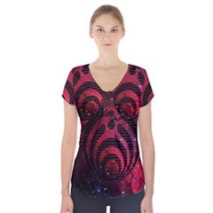 Nectar Galaxy Nebula Short Sleeve Front Detail Top