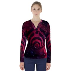 Nectar Galaxy Nebula V Neck Long Sleeve Top