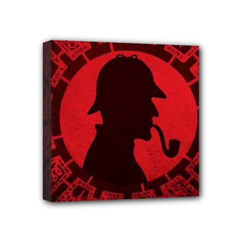 Book Cover For Sherlock Holmes And The Servants Of Hell Mini Canvas 4  X 4