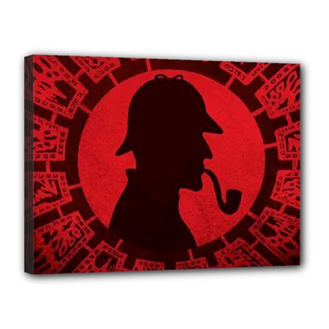 Book Cover For Sherlock Holmes And The Servants Of Hell Canvas 16  X 12
