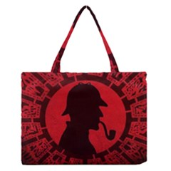 Book Cover For Sherlock Holmes And The Servants Of Hell Zipper Medium Tote Bag