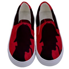 Book Cover For Sherlock Holmes And The Servants Of Hell Kids  Canvas Slip Ons