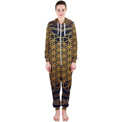 Tree Of Live Pattern Hooded Jumpsuit (ladies)  by Samandel