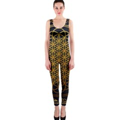 Tree Of Live Pattern One Piece Catsuit by Samandel