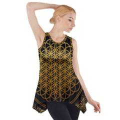 Tree Of Live Pattern Side Drop Tank Tunic