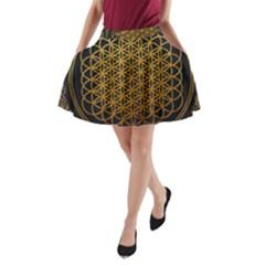 Tree Of Live Pattern A Line Pocket Skirt by Samandel
