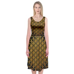 Tree Of Live Pattern Midi Sleeveless Dress