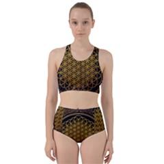 Tree Of Live Pattern Racer Back Bikini Set by Samandel