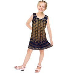Tree Of Live Pattern Kids  Tunic Dress by Samandel