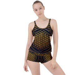Tree Of Live Pattern Boyleg Tankini Set  by Samandel