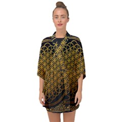 Tree Of Live Pattern Half Sleeve Chiffon Kimono by Samandel
