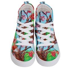 Coral Tree Blooming Kid s Hi Top Skate Sneakers
