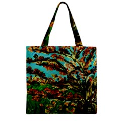 Coral Tree 1 Zipper Grocery Tote Bag by bestdesignintheworld