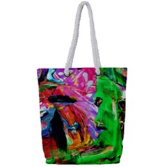 Triplets 1 Full Print Rope Handle Tote (small)