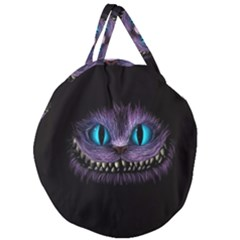 Cheshire Cat Animation Giant Round Zipper Tote