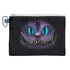 Cheshire Cat Animation Canvas Cosmetic Bag (xl)
