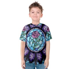 Cathedral Rosette Stained Glass Kids  Cotton Tee