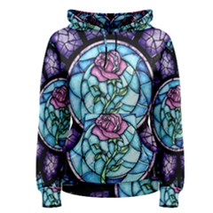 Cathedral Rosette Stained Glass Women s Pullover Hoodie