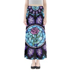 Cathedral Rosette Stained Glass Full Length Maxi Skirt by Samandel