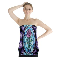 Cathedral Rosette Stained Glass Strapless Top