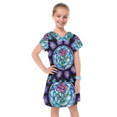 Cathedral Rosette Stained Glass Kids  Drop Waist Dress